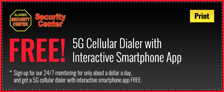 Security Center coupon for a free standard home alarm installation